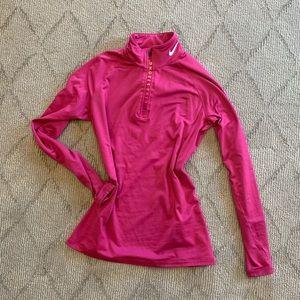 Pink long sleeve Nike 1/4 zip